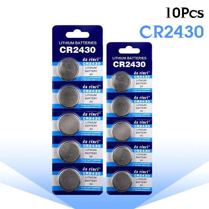 Giá vĩ 5 viên Pin nút áo CR2430 da vincy