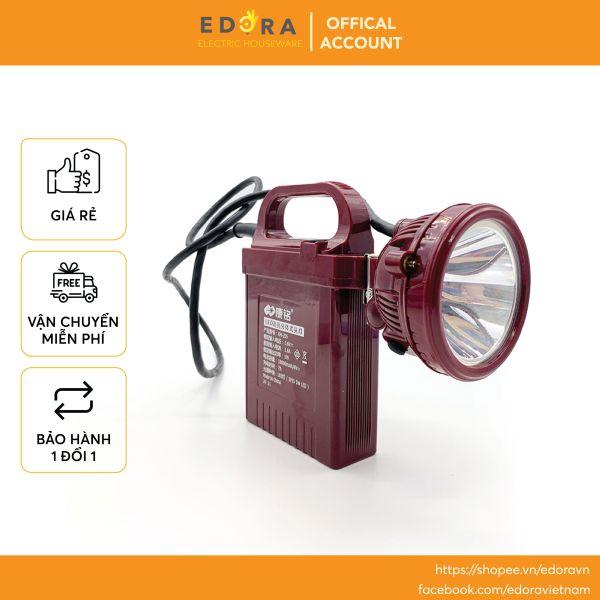Đèn pin đội đầu kèm bình ắc quy siêu sáng KM-205