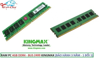 RAM PC 4GB DDR4 - BUS 2400 KINGMAX (BẢO HÀNH 3 NĂM - 1 ĐỔI 1) thumbnail
