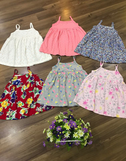 Váy Hai Dây Bé Gái Đầm Cotton Trẻ Em 7-28kg Dáng Babydoll Họa Tiết Nhí Dễ Thương HQ Kids VAY G1003 (Giao Màu Ngẫu Nhiên) thumbnail