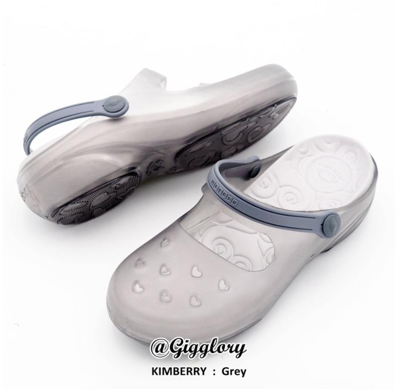 Dép Sục nữ đế cao 5cm Thái Lan Monobo Kimberry – Đế xám quai trong – Nhựa mềm êm chân, tiện dụng đi mưa chống trơn trượt giá rẻ