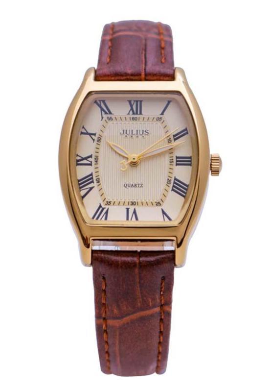 Đồng hồ nữ Julius Hàn Quốc JA-703 cổ điển dây da (Nâu)
