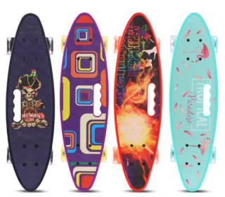 Skateboard , Ván trượt Penny Cougar, Ván Trượt Skateboard Penny NTE - Có Tay Cầm - Trục Kim Loại To - Bánh Cao Su Có Đèn Led - Ván trượt thanh thiếu niên , trẻ em thumbnail