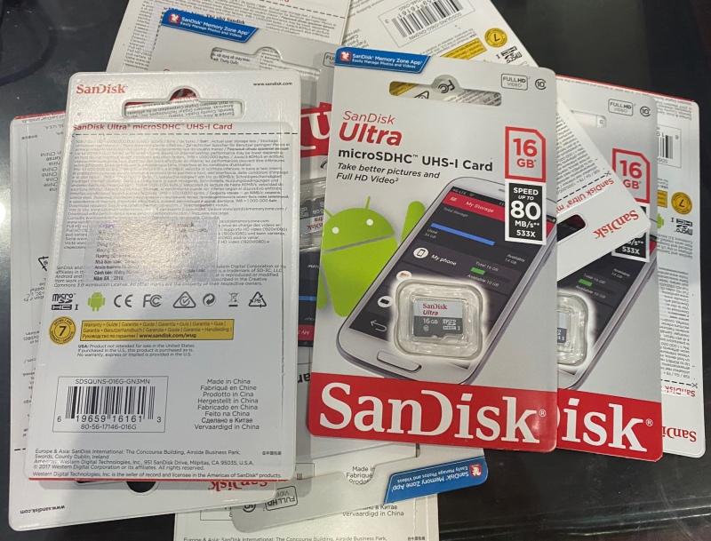 Thẻ nhớ Chính hãng 16Gb Sandisk Class 10 Siêu Tốc độ bảo hành 5 năm