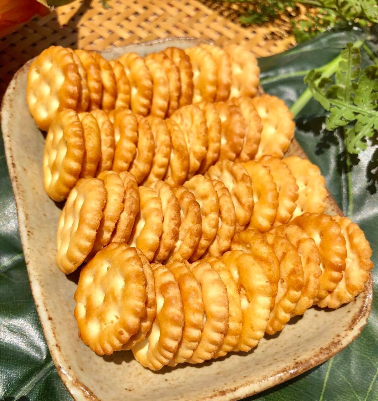 Bánh quy đồng tiền mặn ngọt 100g/200g/500g/1kg - bánh quy bơ sữa thơm ngon - ăn vặt - bách hóa uy tín