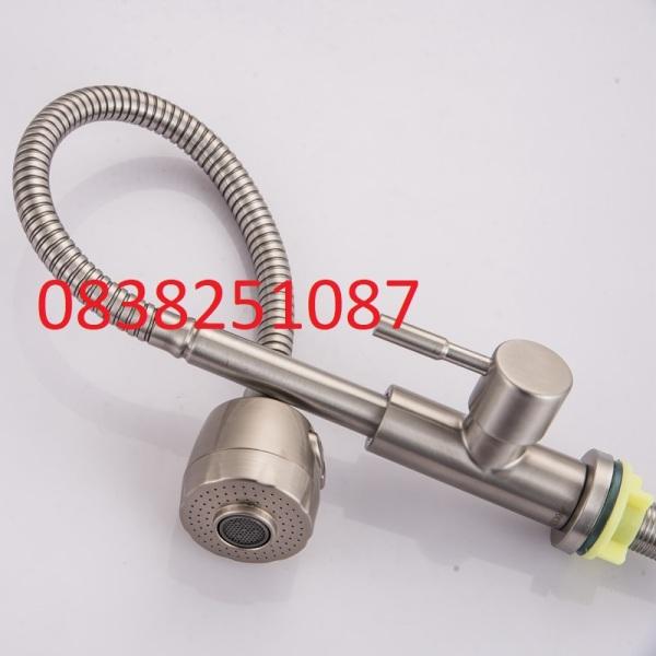 Bảng giá [HCM]Vòi rửa chén bẻ tăng áp lò xo xoay 360 độ INOX 304 CL2019