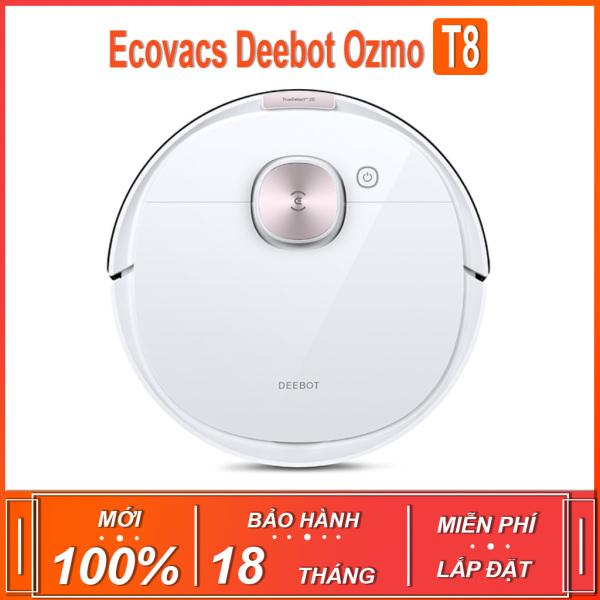 Robot hút bụi , lau nhà thông minh Ecovacs Deebot Ozmo T.8 màu trắng ( BẢN QUỐC TẾ - BẢO HÀNH 18 THÁNG )