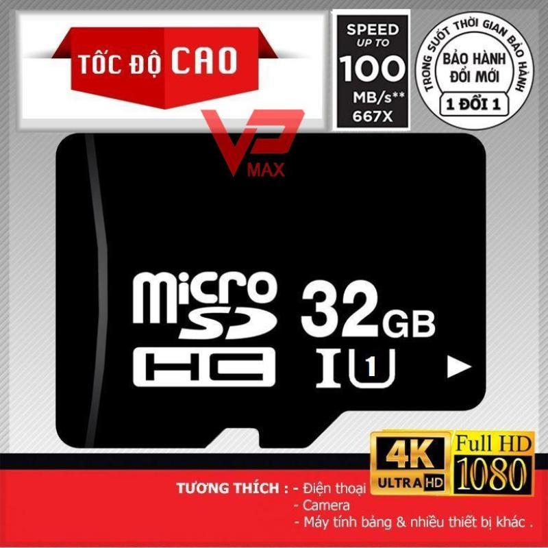 Thẻ nhớ Micro SDHC  32Gb 16Gb class 10 - 100Mb siêu tốc độ