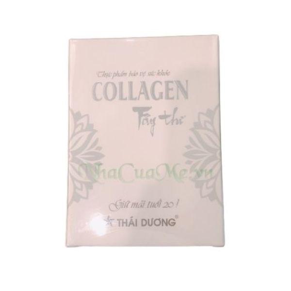 Viên Uống Collagen Trắng Da, Mờ Nám, Chống Lão Hóa Collagen Tây Thi Sao Thái Dương (Hộp 10 vỉ x 6 viên)