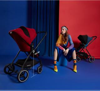 Xe đẩy em bé GB SWAN basic mẫu mới nhất năm 2019 chuyển đổi ghế ngồi thành nôi cho bé thumbnail