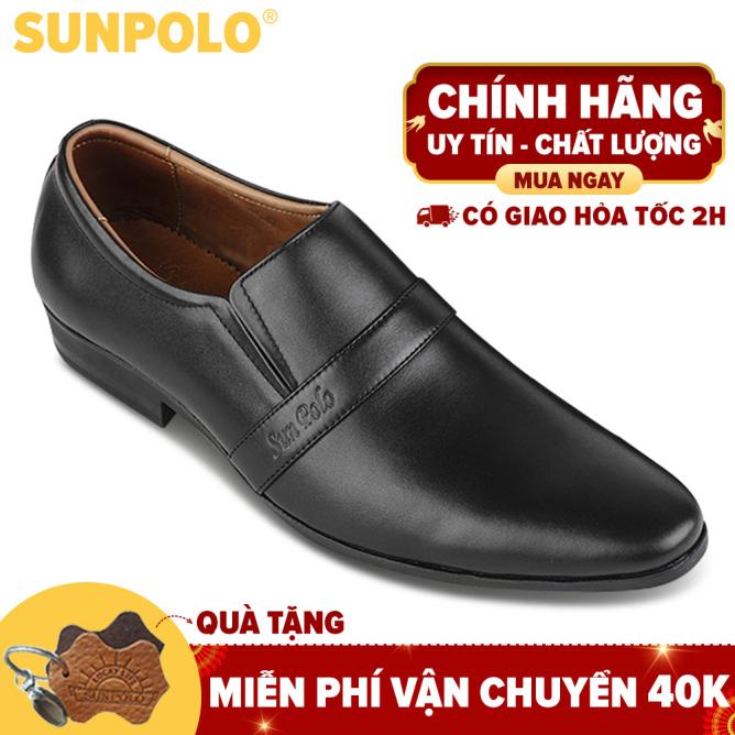 Giày Tây Nam Da Bò SUNPOLO MU07DN (Đen, Nâu) giá rẻ