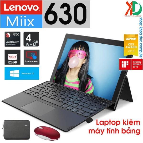 Bảng giá Laptop kiêm máy tính bảng 2 trong 1 Lenovo Miix 630 Snapdragon 850, 4gb Ram, 128gb SSD, Full HD 12.3inch Phong Vũ