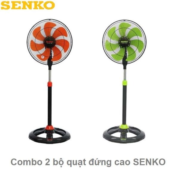 [Nhập ELAPR21 giảm 10% tối đa 200k đơn từ 99k]Combo 2 bộ quạt đứng cao Senko DTS1607