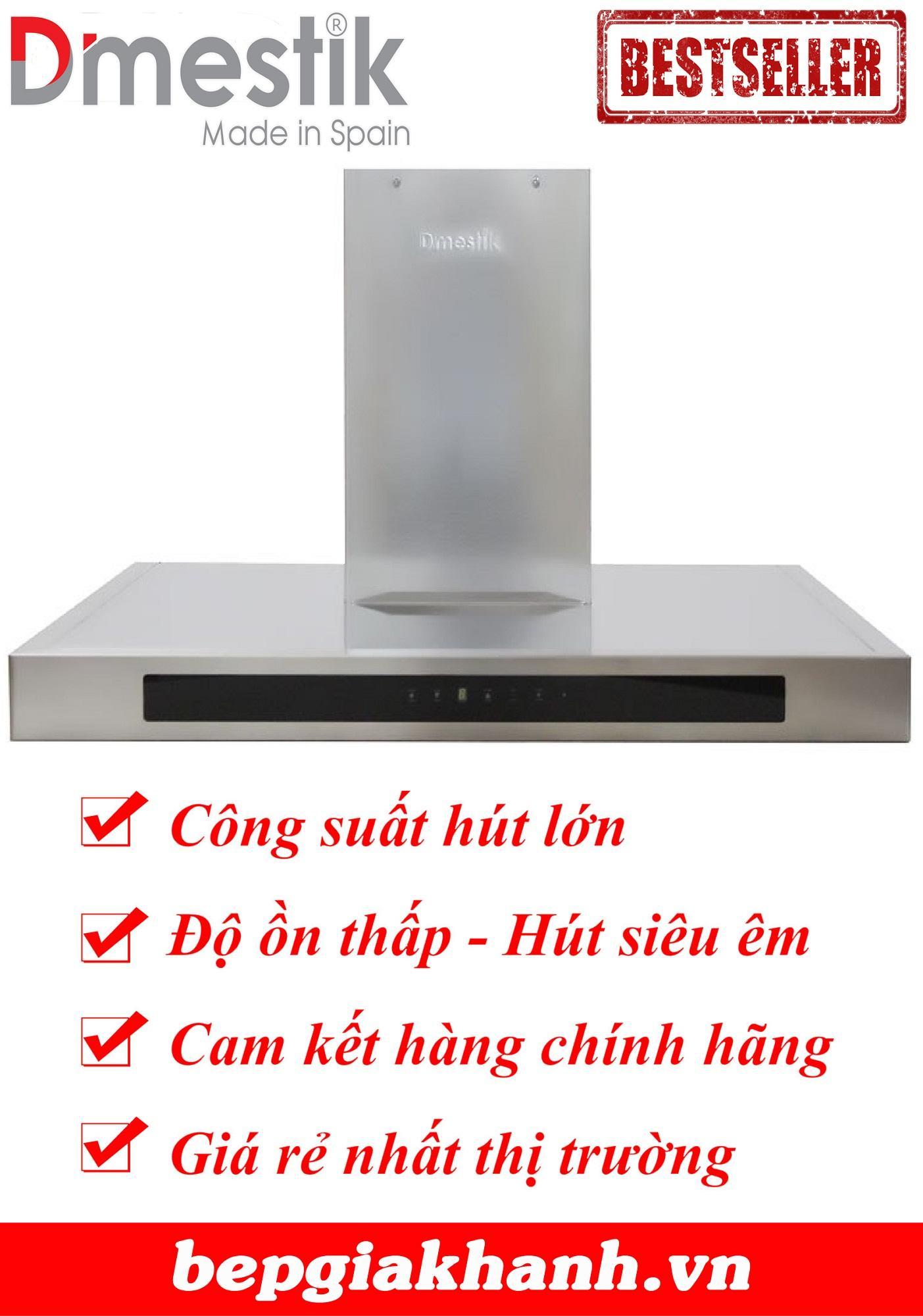 Máy hút khói khử mùi dạng phẳng 70cm Dmestik LARA 70 LCD, máy hút mùi, máy hút khói, máy hút mùi nhà bếp