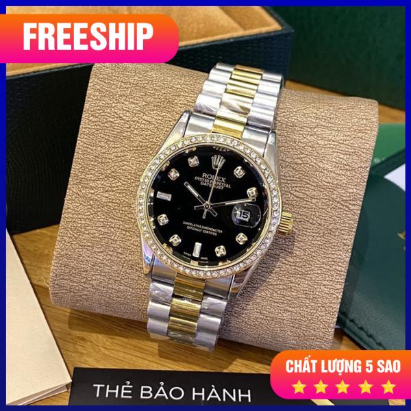 Nơi bán [SIÊU GIẢM GIÁ] Đồng hồ nam Rolex Đen - Chống nước - Bảo hành Dài Hạn