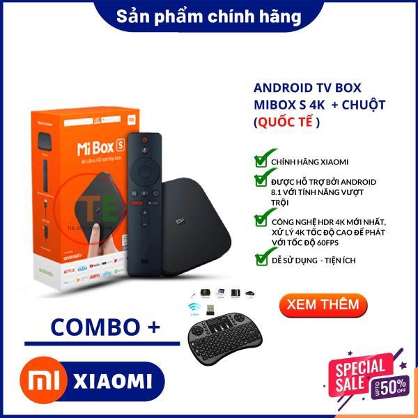 Bảng giá [Tặng 01 Chuột không dây ] Tivi box Xiaomi - Android Tivi Box Xiaomi Mibox S 4K Ultra HD Quốc Tế Tiếng Việt - Phân phối