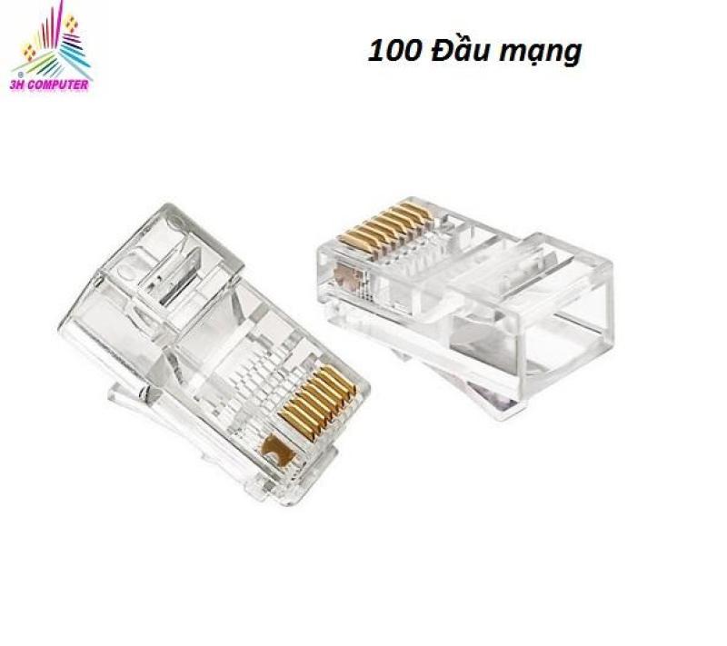 Bảng giá Đầu bấm mạng RJ45 loại thường (Bịch 100 hạt mạng nhựa  ) Phong Vũ