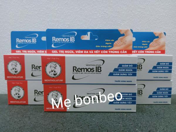 Remos ib ,gel chống ngứa , con trùng cắn 10g giá rẻ