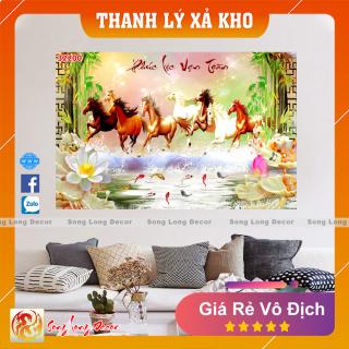 Tranh Dán Tường 3D Mã Đáo Thành Công - Tranh 3D Phong Thủy - Giấy dán tường 3d - Song Long Decor - 32200 thumbnail