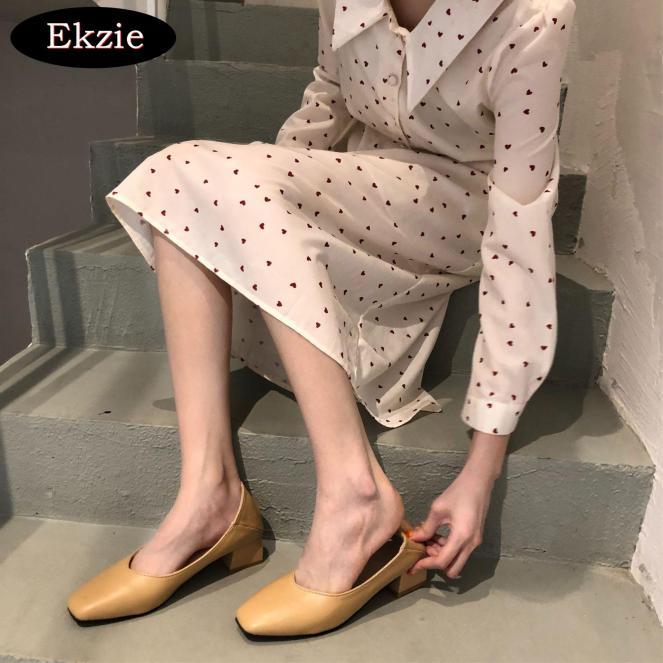 2021 Phiên bản tiếng Hàn mới mùa xuân và mùa hè Mori phụ nữ miệng nông phẳng mềm đáy văn học tươi nữ giày cao gót cổ điển phong cách cổ tích giày đơn nữ màu nâu mơ đen thích hợp cho buổi tiệc hẹn hò đi làm giá rẻ