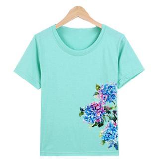 Áo Thun nữ in hình chất liệu polly cotton EWM1381 Thời Trang Elsa thumbnail