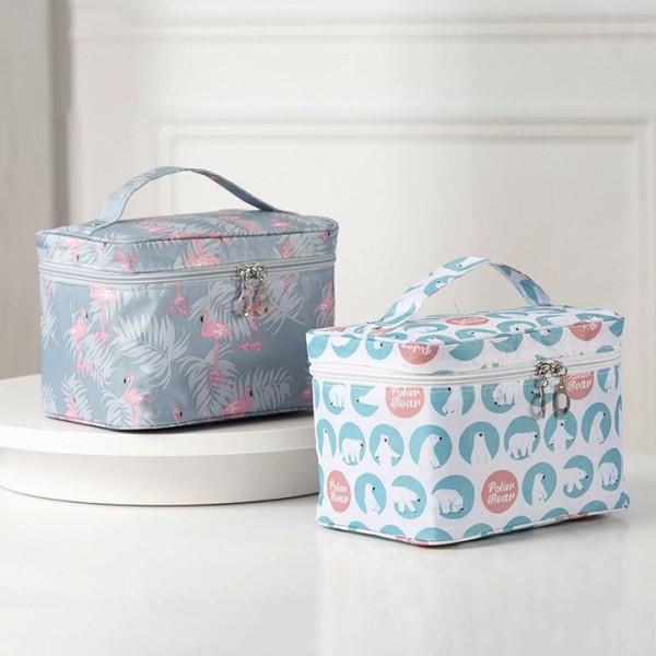 Túi đựng mỹ phẩm đồ trang điểm xách tay hình hộp, đồ dùng phụ kiện trang điểm, đồ dùng cho nữ. túi hộp lưu trữ (THH10), Huy Linh cao cấp