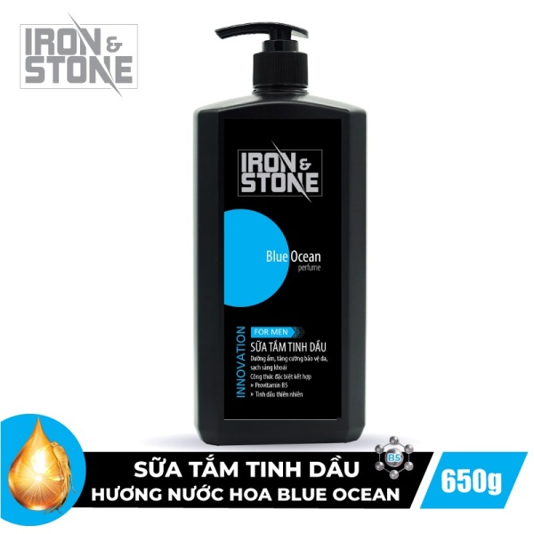Sữa Tắm Tinh Dầu IRON & STONE Innovation Hương Blue Ocean 650g Z0302 - Dành Cho Nam giá rẻ