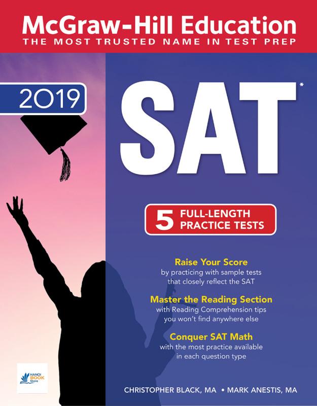 McGraw-Hill Education SAT 2019 - Sách đen trắng ( Hanoi bookstore)