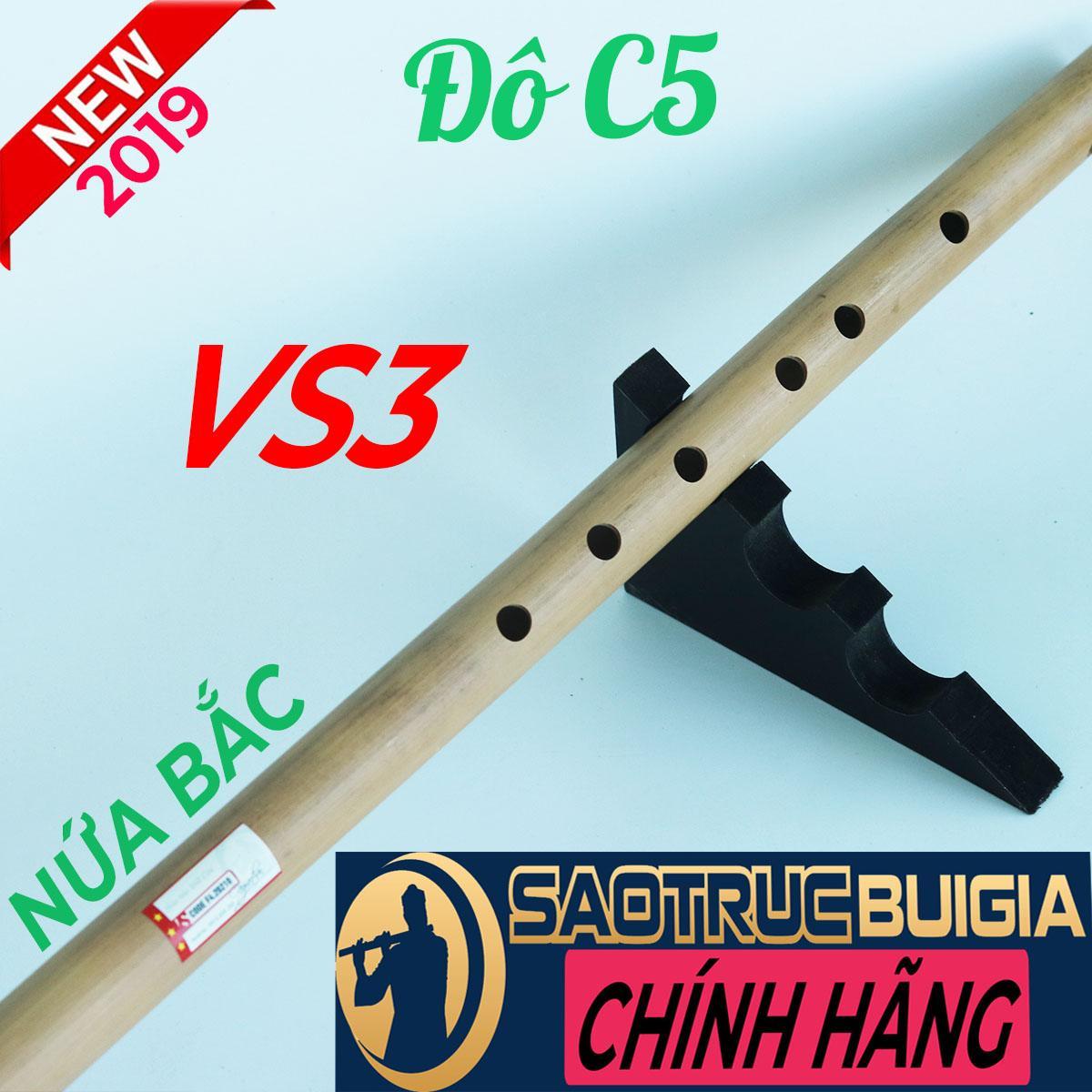 Sáo trúc Đô (C5) VS3 NỨA BẮC - Sáo trúc Bùi Gia - Dòng Cao Cấp - Cây sáo để chơi lâu dài - Tặng sách học sáo