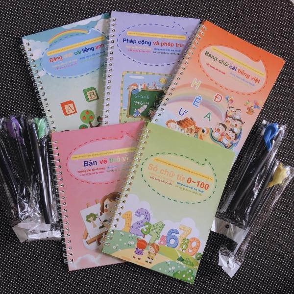 Mua Bộ 5 Vở Tập Tô, Tập Viết Tự Xóa Cho Bé Mẫu Giáo Kèm Bút