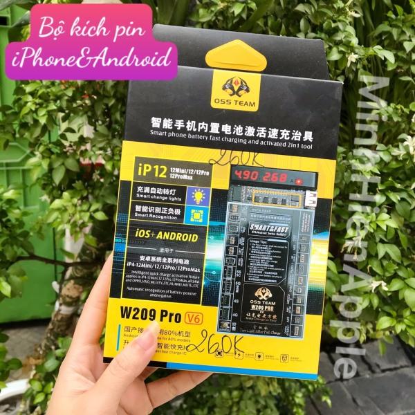 Bộ kích pin OSSTEAM W209 Pro V6 cho iPhone 12 12Mini 12 Promax và Android