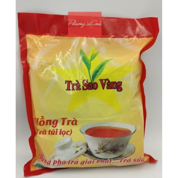 Hồng trà túi lọc sao vàng túi 300g 10 túi lọc nhỏ chất lượng đảm bảo an toàn đến sức khỏe người sử dụng cam kết hàng đúng mô tả