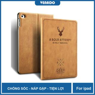 Ốp bảo vệ nắp gập đầu hươu cho iPad AIR 3 10.5 inch Dập Nổi Logo Đầu Hươu - VENADO Bao da ipad A Bold Attempt thumbnail