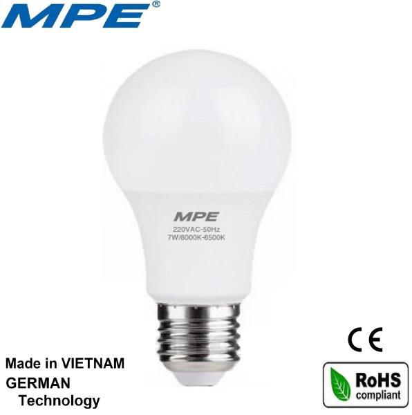 [Nhập ELMAY21 giảm 10% tối đa 200k đơn từ 99k]MPE bóng đèn led tròn 7W đạt chuẩn Châu Âu