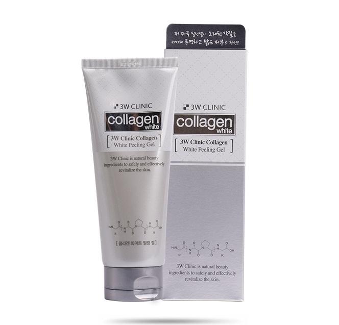 Tẩy Tế Bào Chết Trắng Da Tinh Chất Collagen 3W Clinic Collagen White Peeling Gel 180ml