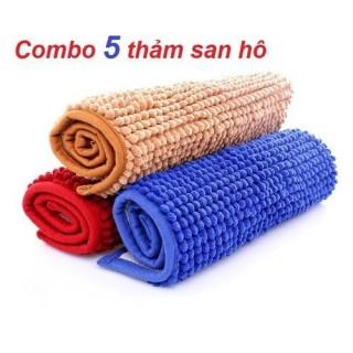 Combo 5 Thảm San Hô Lau Chân,Chất Vải Cực Mềm Siêu Thấm Hút - Thảm San Hô thumbnail
