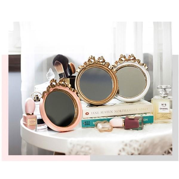 Gương nơ retro, gương mini, gương để bàn giá rẻ