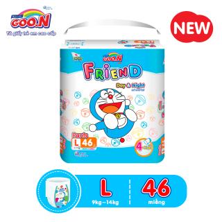 Tã quần Goo.N Friend Doremon gói cực đại size L 46 miếng dành cho bé 9 - 14 kg (Form tã ôm) thumbnail