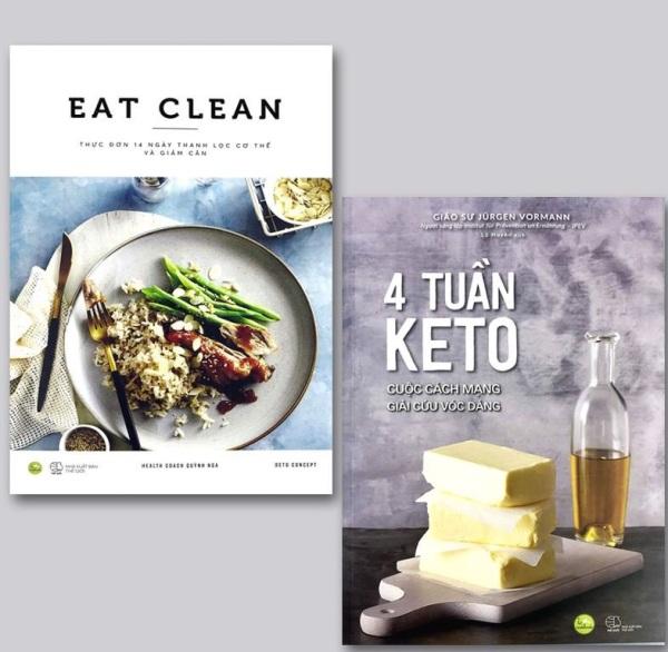 nguyetlinhbook - Combo 2 cuốn:  Eat clean thực đơn 14 ngày thanh lọc cơ thể và giảm cân + 4 tuần keto cuộc cách mạng giải cứu vóc dáng