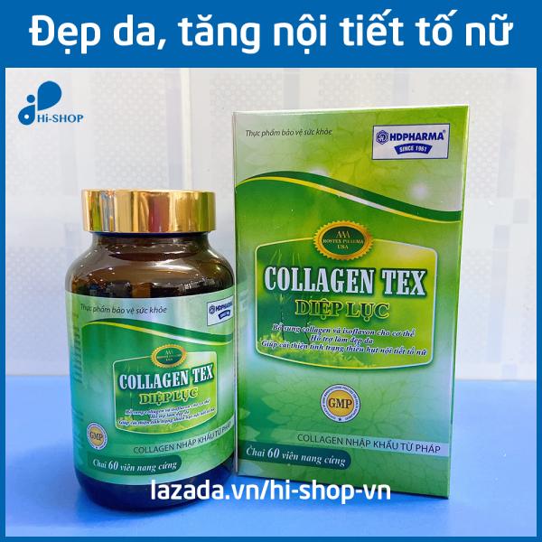 Viên uống đẹp da Diệp Lục Collagen chống lão hóa, tăng nội tiết tố nữ - Hộp 60 viên dùng 1 tháng giá rẻ
