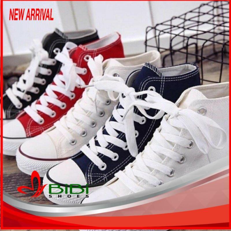 Giày sneaker nữ vải mềm cổ cao ngôi sao Bi Shop