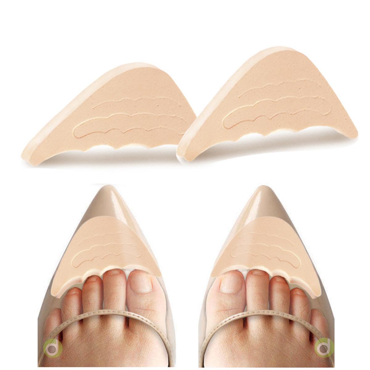 Một cặp lót mũi giày cao gót đệm êm ngón chân chất liệu cao su non sử dụng được cho tất cả các loại giày bít mũi PK50