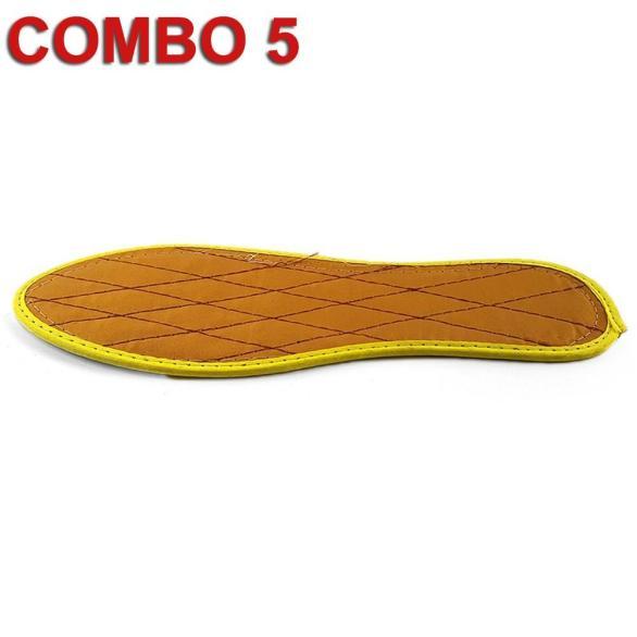 [Combo 5 Đôi] Miếng Lót Giày Lót Giày Nam Mùi Hương Quế Kháng Khuẩn Khử Mùi Chống Hôi Chân LQ0216 (Vàng) giá rẻ