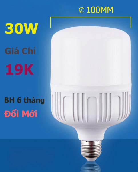 Bảng giá Bóng đèn LED trụ 20W 30W 40W ánh sáng TRẮNG