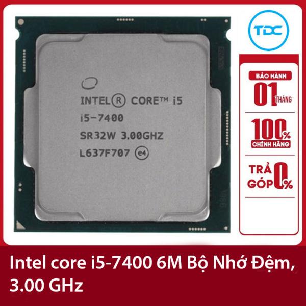 Bảng giá Bộ vi xử lý Intel CPU Core i5-7400 3.00GHz ,65w 4 lõi 4 luồng, 6MB Cache Socket Intel LGA 1151 Phong Vũ