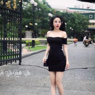 Đầm body trễ vai thời trang XIXO cao cấp - chất thun gân mềm mịn co giãn -Váy đầm ôm body - đầm nữ - váy nữ thumbnail