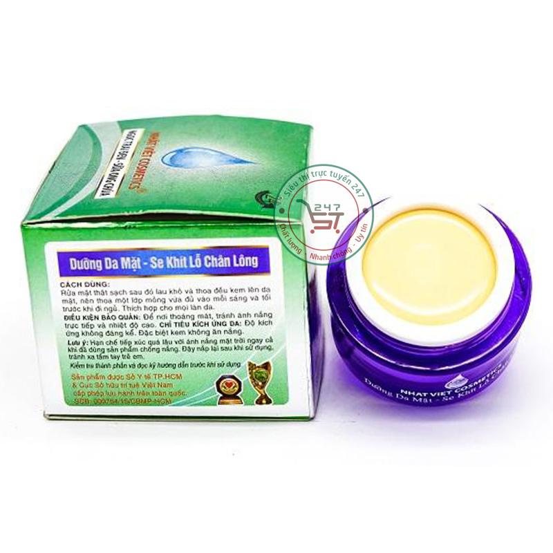 Kem dưỡng da mặt Nhật Việt Se khít lỗ chân lông Ngọc trai đen - Sữa Ong Chúa V2 8g (Xanh - Xám) Siêu thị trực tuyến 247