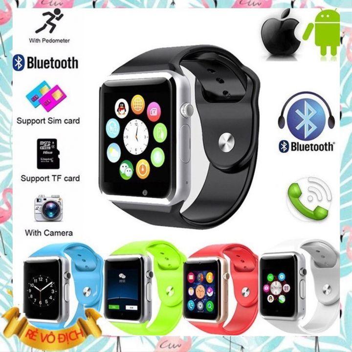 Đồng hồ thông minh A1 Plus phiên bản mới 2021 có Tiếng Việt. Đầy đủ tính năng nghe gọi nhắn tin vào mạng lướt web nghe nhạc sử dụng như điện thoại. Bảo hành 12 tháng