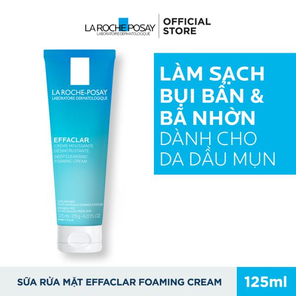 Sữa rửa mặt tạo bọt làm sạch giúp làm sạch sâu và se khít lỗ chân lông không gây khô da La Roche-Posay Effaclar 125ML