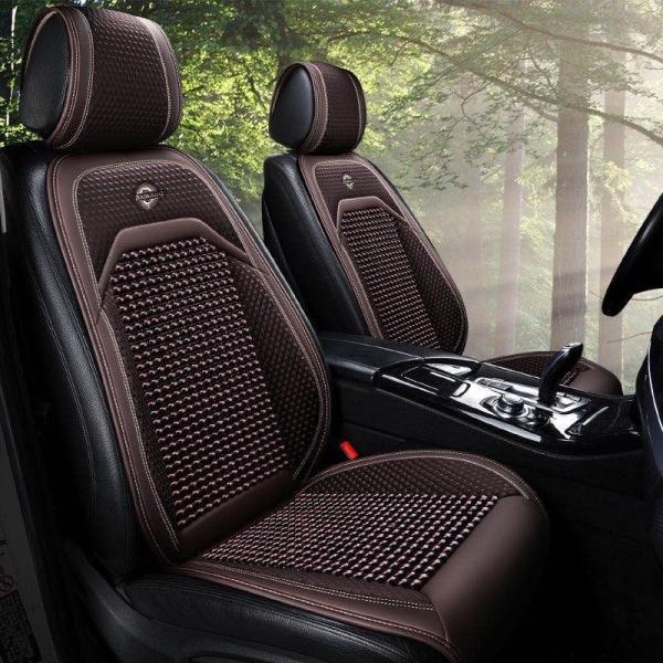 1 Bộ lót ghế và tựa lưng ô tô có hạt gỗ cao cấp 3 màu